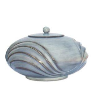 Urne in grijs-blauw dia 23cm 3L Afmetingen: 11,5cm
