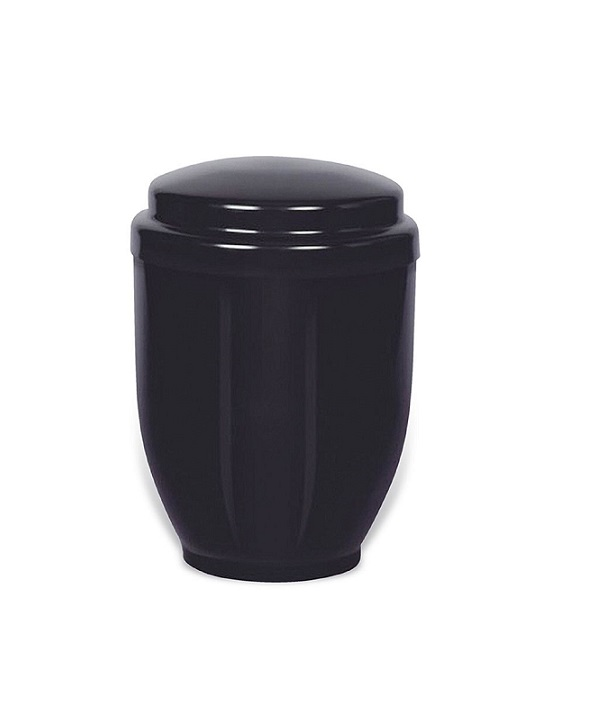 metalen urn zwart