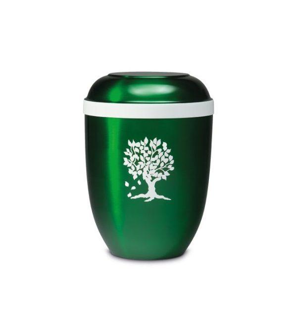 groene urn met levensboom